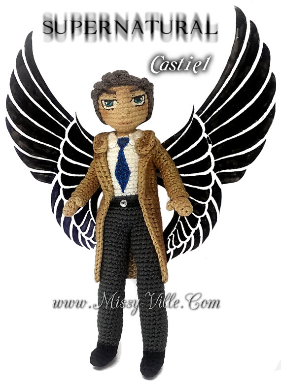 Castiel ~ Supernatural ~ Crochet Amigurumi by MissyBaque