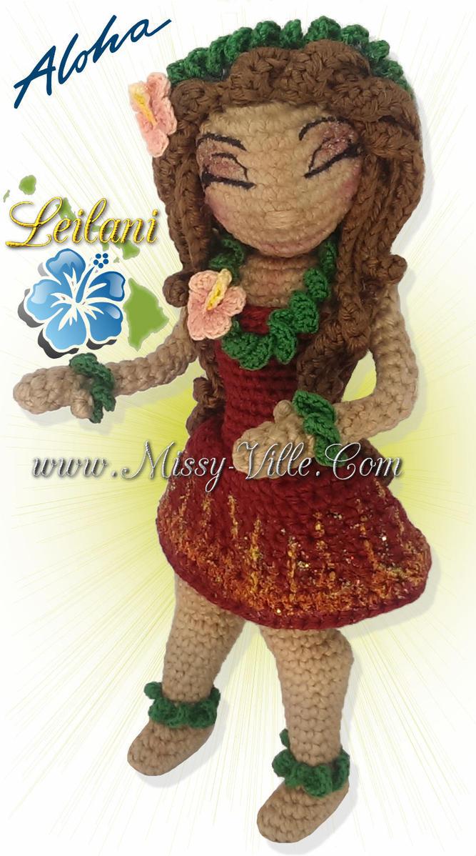 Amigurumi Hawai Doll : Leilani hawaiian hula sunset crochet doll by
