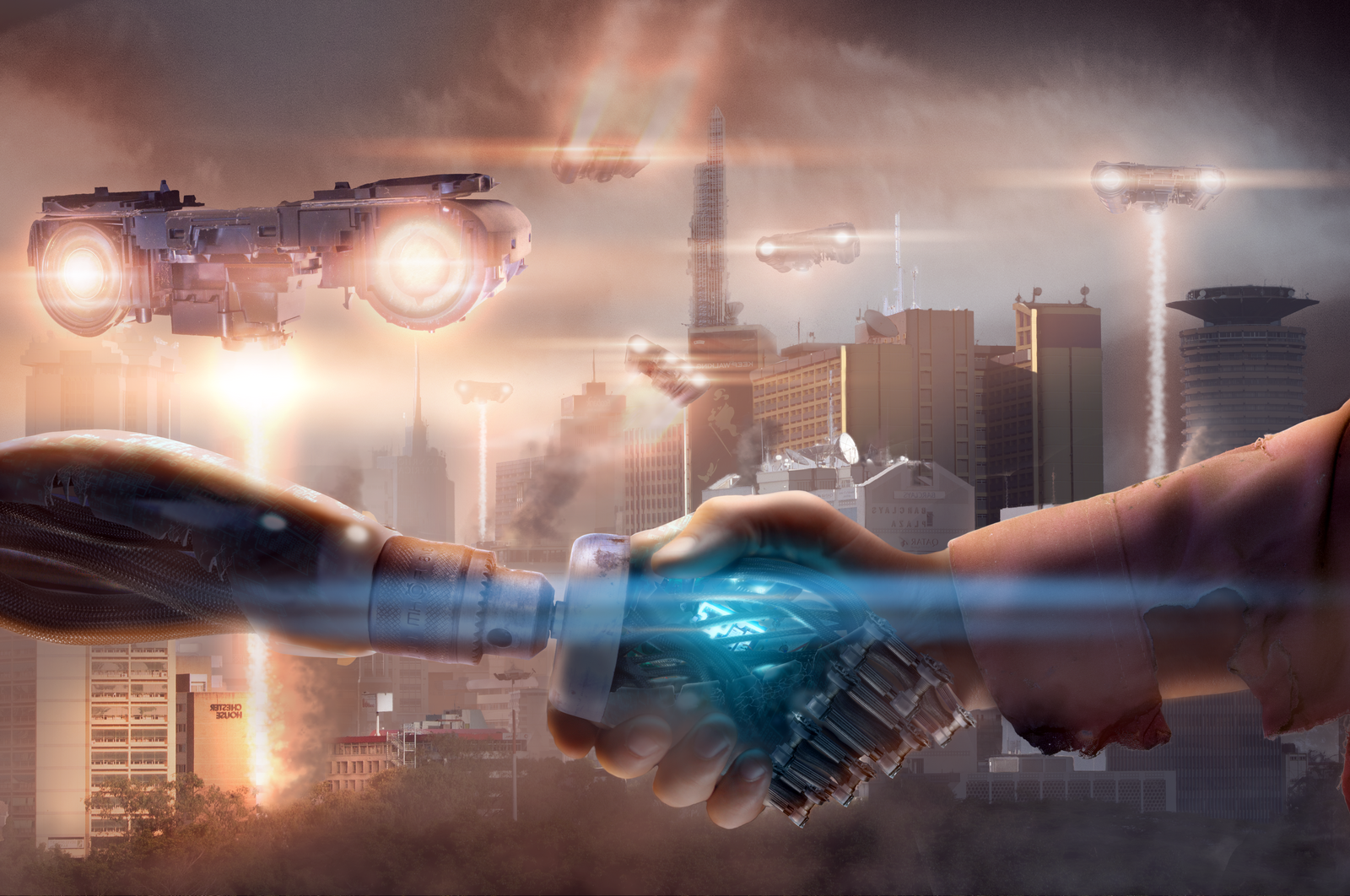 Robot's Vs Aliens by Joshi38