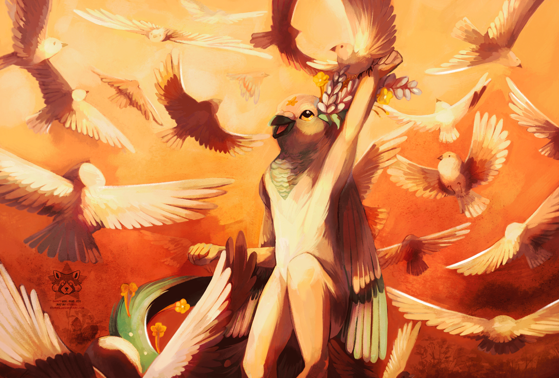 birds storm by Storiel