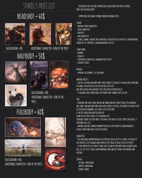 [PLEASE READ] COMMISSIONS PRICE LIST
