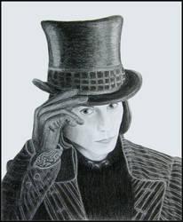 Willy Wonka Portrait by saddiamonds