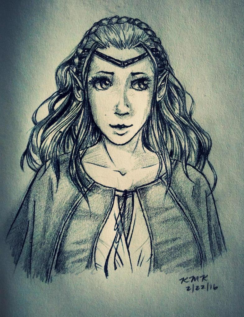 Elf sketch by sundaygir1