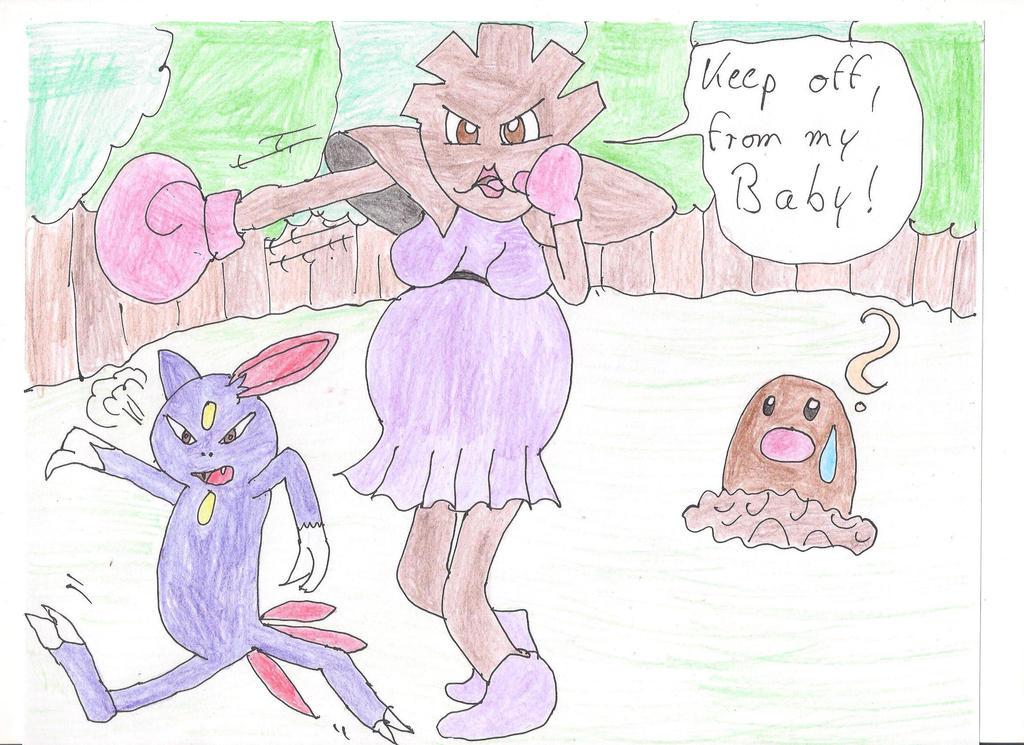 Mariette fights a Sneasel by 1Missy
