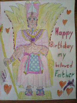 Pharaoh Neterikere enthroned on his Birthday