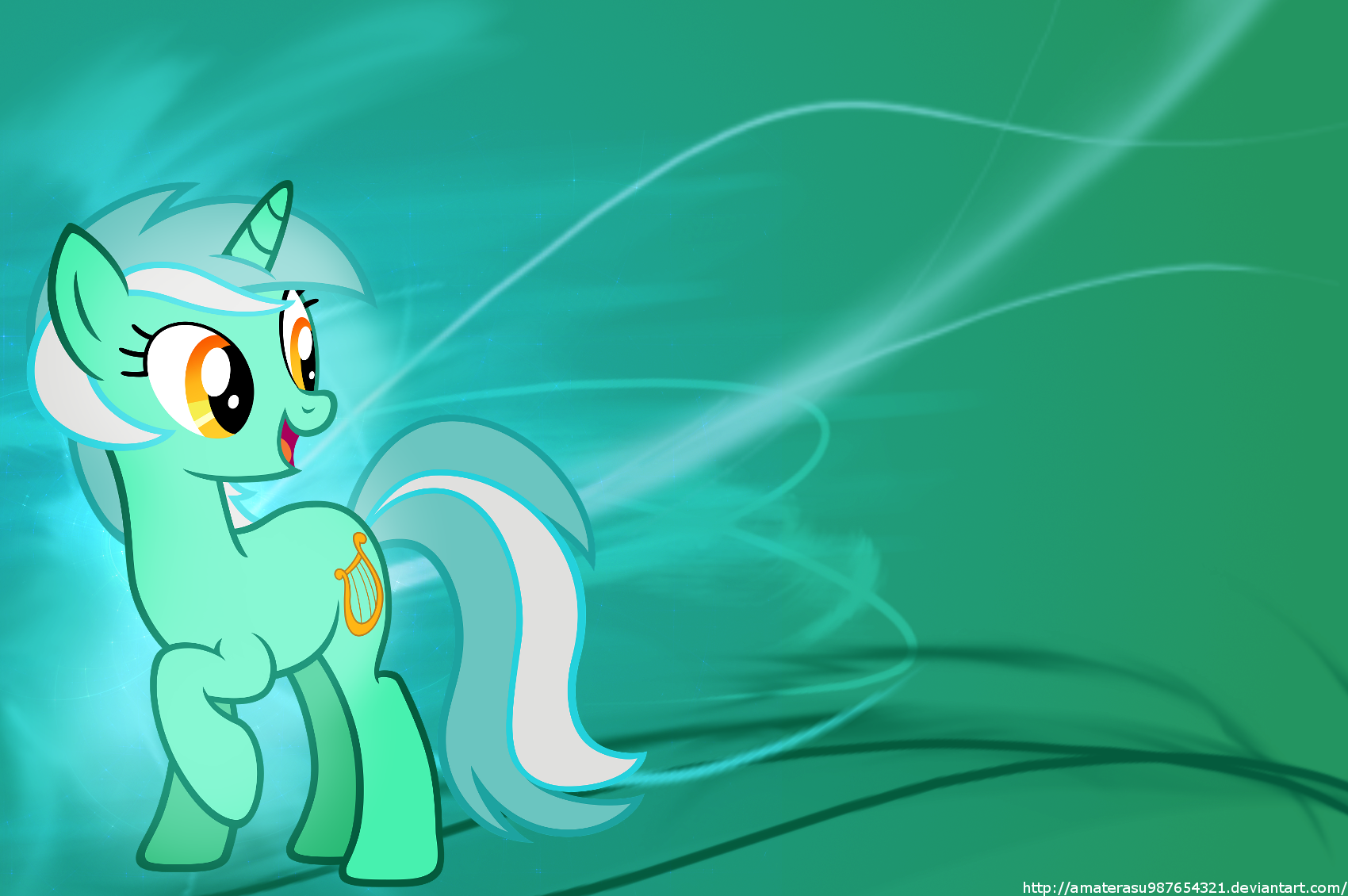 Lyra Heartstrings Minimalist Wallpaper by Amaterasu987654321