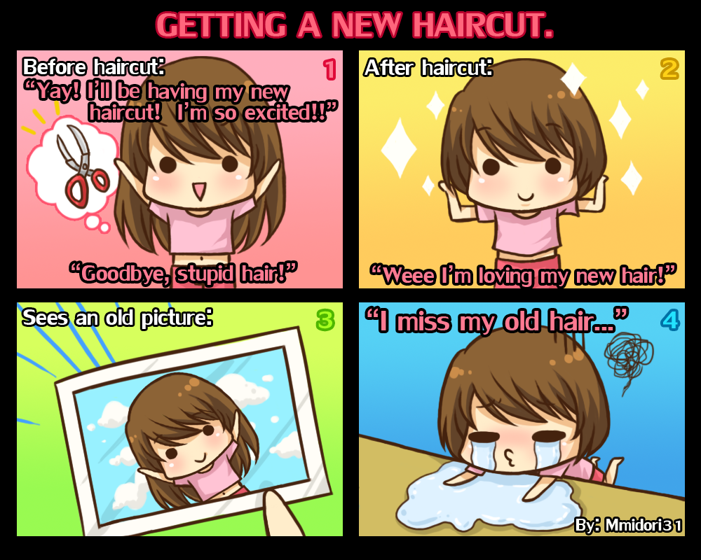 Chibi Reiko 1 Getting A New Haircut By Mmidori31 On