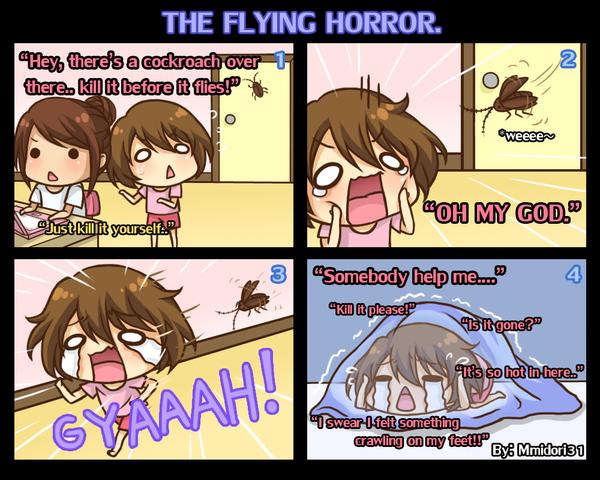 Chibi Reiko #8 - The flying horror. by mmidori31