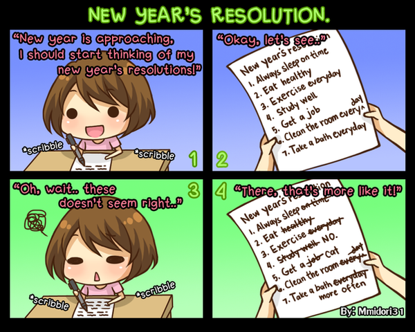 Chibi Reiko #15 - New Year's resolution. by mmidori31