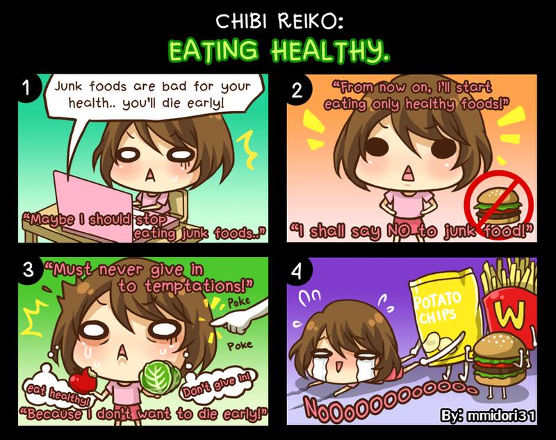 Chibi Reiko #18 -  Eating Healthy. by mmidori31