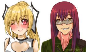 Lilith and Zagarl (Sketch Commission) by mmidori31