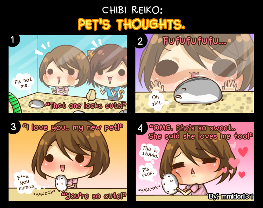 Chibi Reiko #21 - Pet's Thoughts. by mmidori31