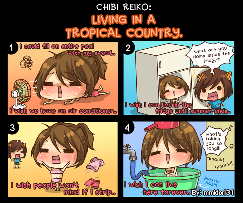 Chibi Reiko #25 - Living in a Tropical Country by mmidori31