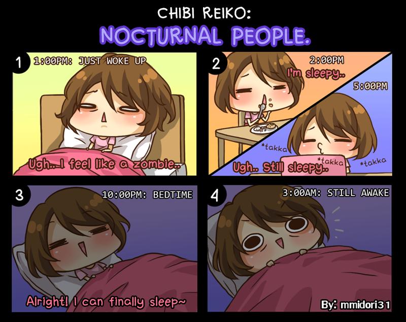 Chibi Reiko #26 - Nocturnal People. by mmidori31