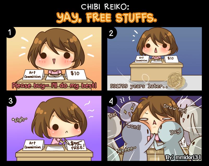 Chibi Reiko #27 - Yay, free stuffs. by mmidori31