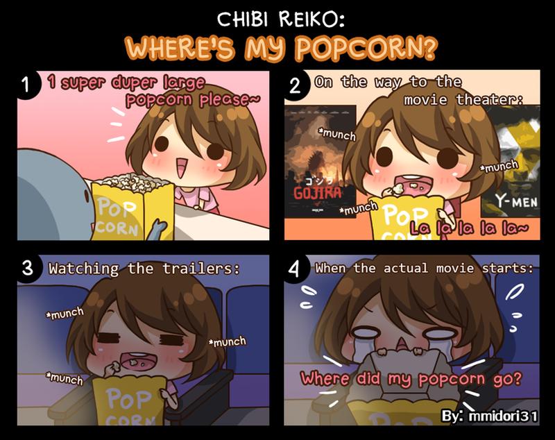 Chibi Reiko #29 - Where's My Popcorn? by mmidori31