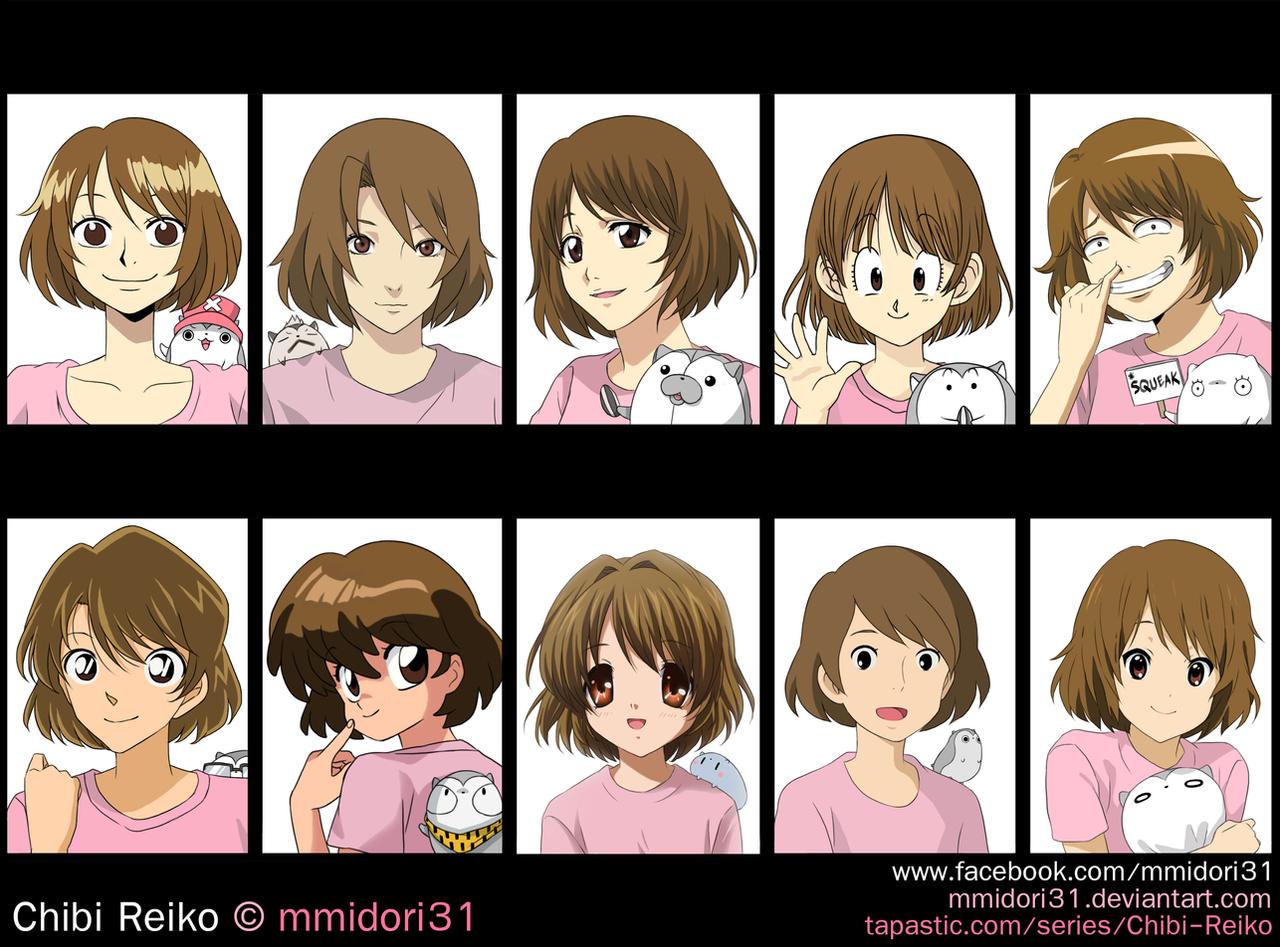 bleach anime chibi dark brown hairs
