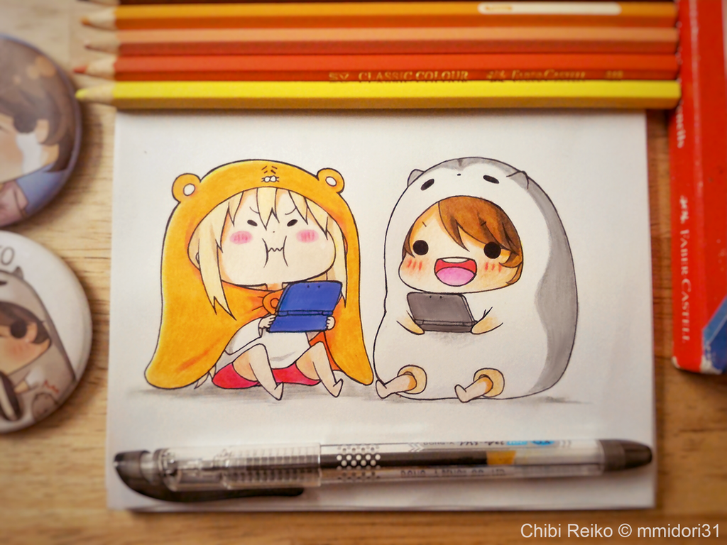 Umaru-chan and Chibi Reiko by mmidori31