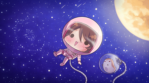 chibi astronaut - photo #3