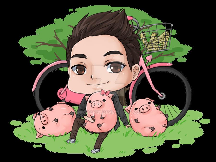 Chibi Sic w/ Piglets by mmidori31