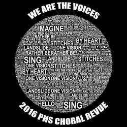 Choral Revue T-Shirt Design 2016