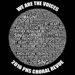 Choral Revue T-Shirt Design 2016