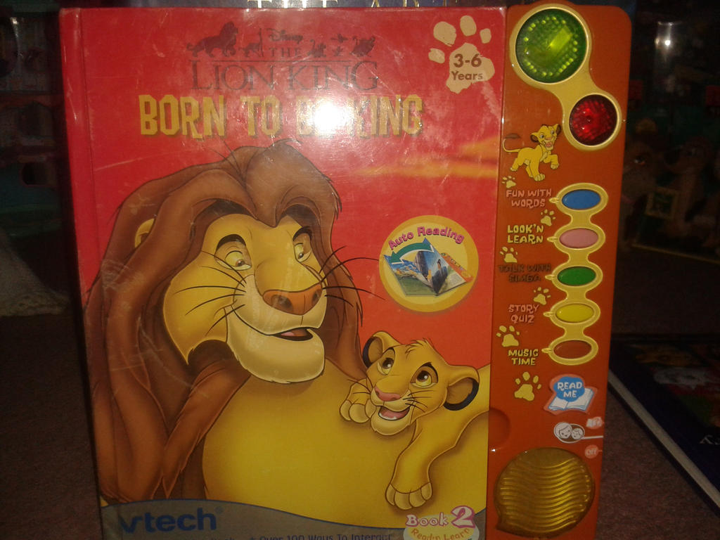 Lion King V-Tech Born to be King sounds book! by Daniellee14
