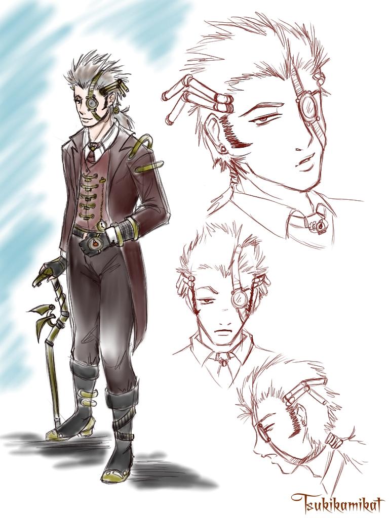 Steam Punk Prof.. by TsukiKamiKat