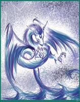 Elemental Water Dragon by TsukiKamiKat