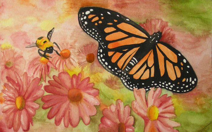 Image result for bee and butterfly