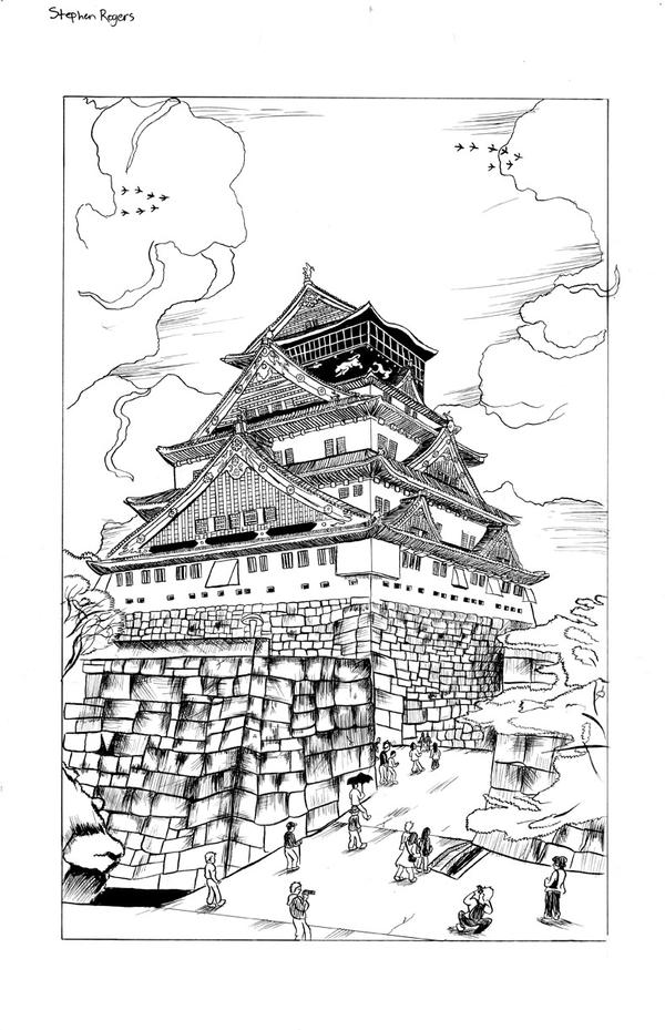 japanese castle coloring pages - photo#7