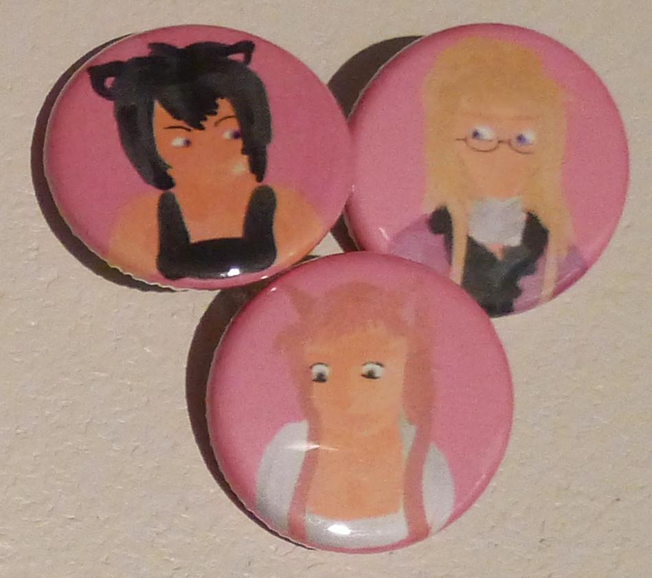 Loveless Button and Magnet Set by anyrandomfandom