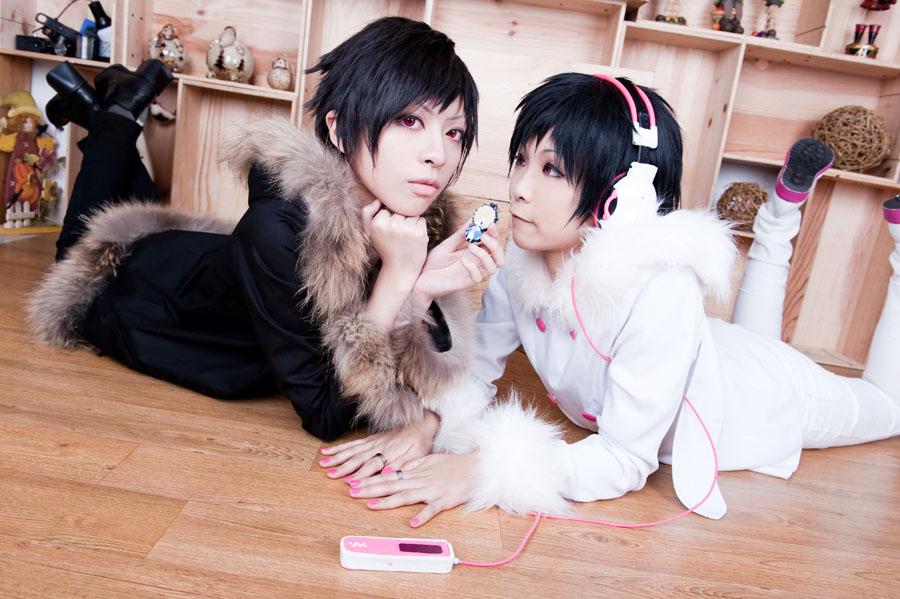 izaya and saike_2 by yui930