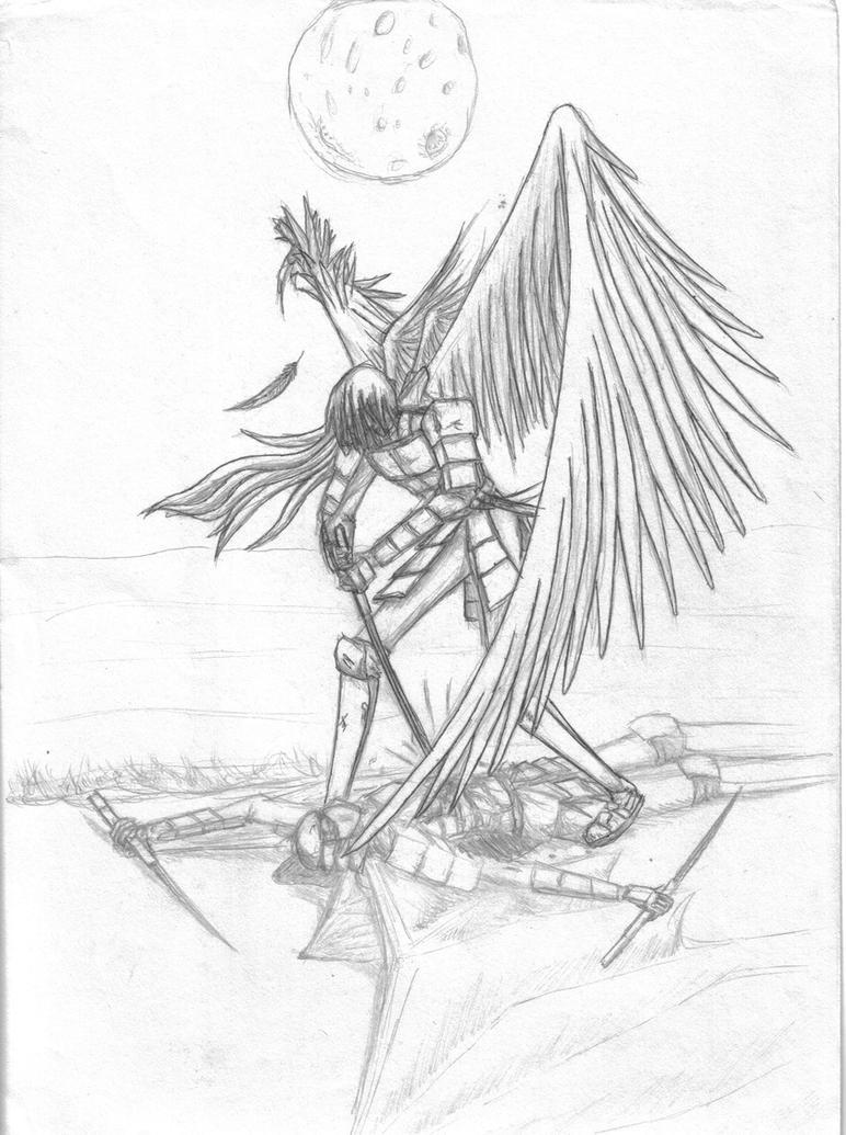 Random angel and demon drawing - YouTube