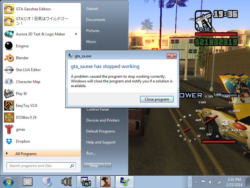 Gta_sa.exe has stopped working problem