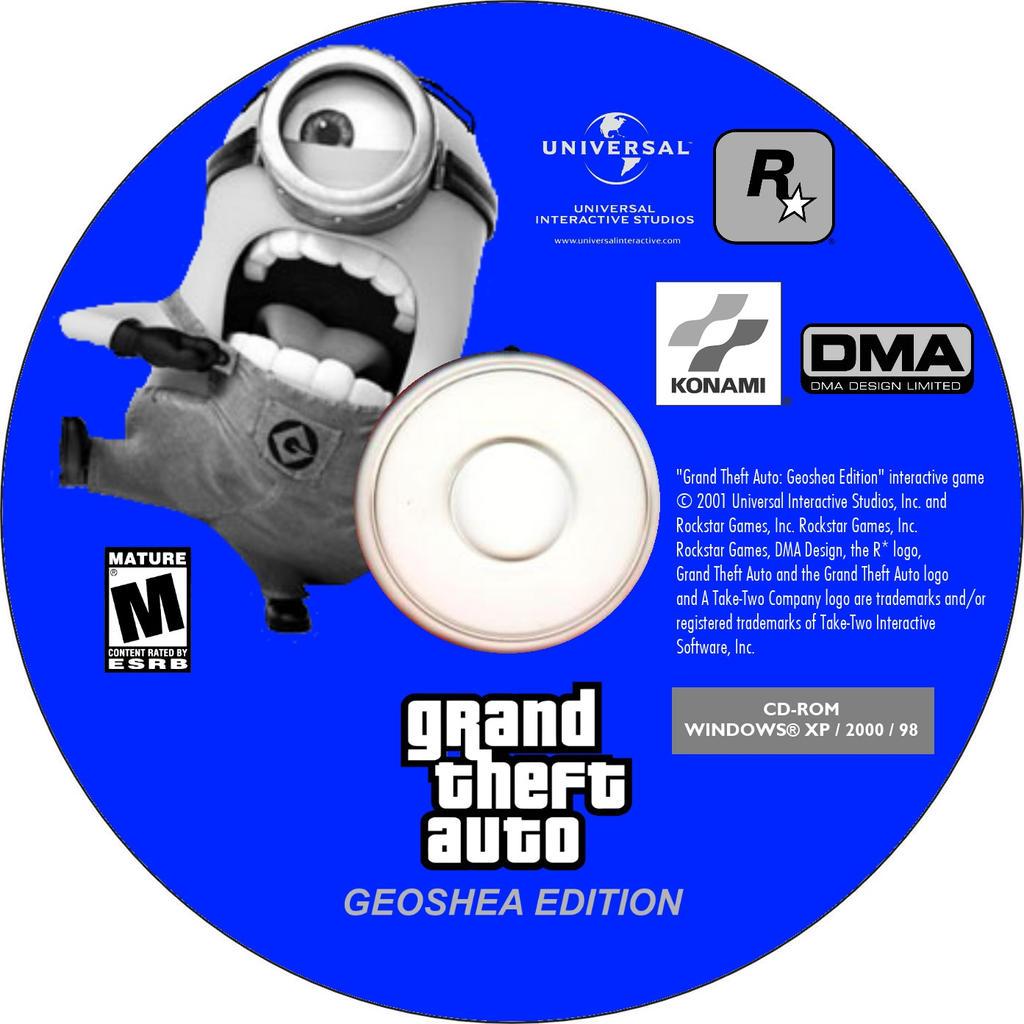 Disc By Supermaxer On Deviantart: GTA Geoshea Edition PC Disc (2001) By Geoshea On DeviantArt