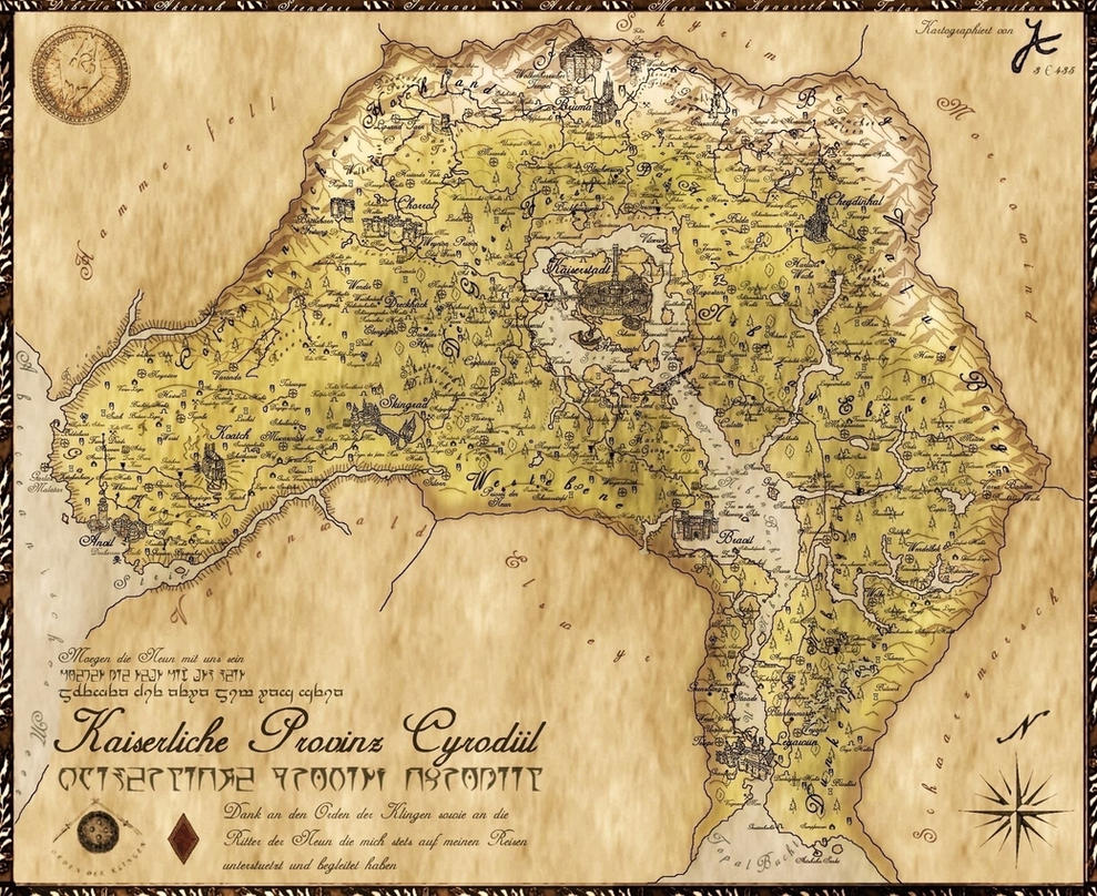 Julia's Map of Cyrodiil by amnis406 on DeviantArt