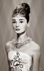 Audrey Hepburn by amnis406