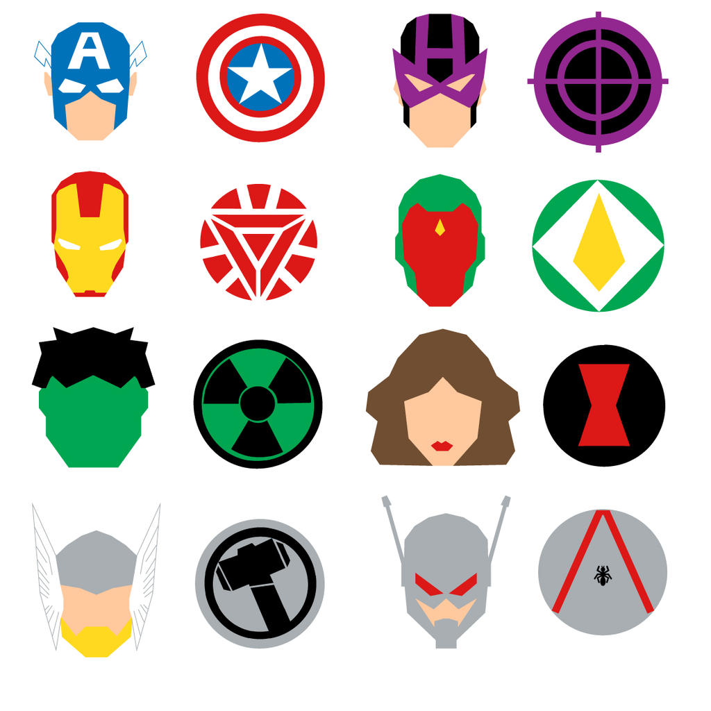 the avengers icons by mattmagargee on deviantart