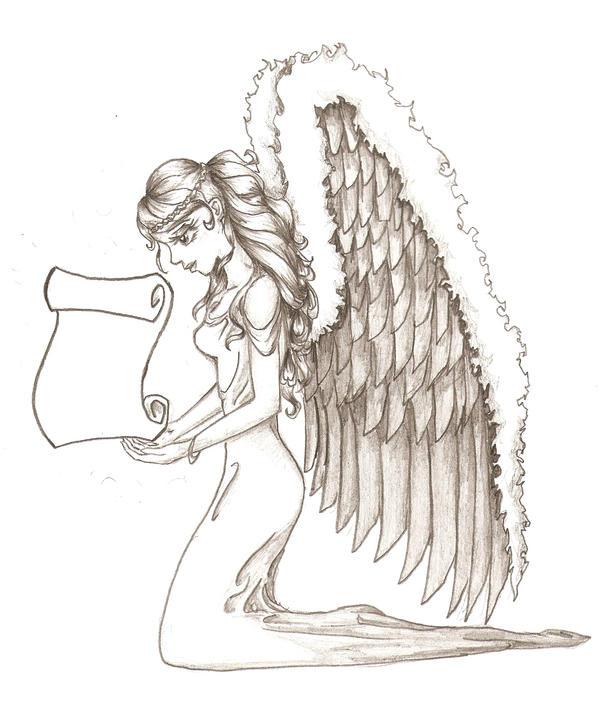 guardian angel tattoo by bekerah on deviantart. Black Bedroom Furniture Sets. Home Design Ideas