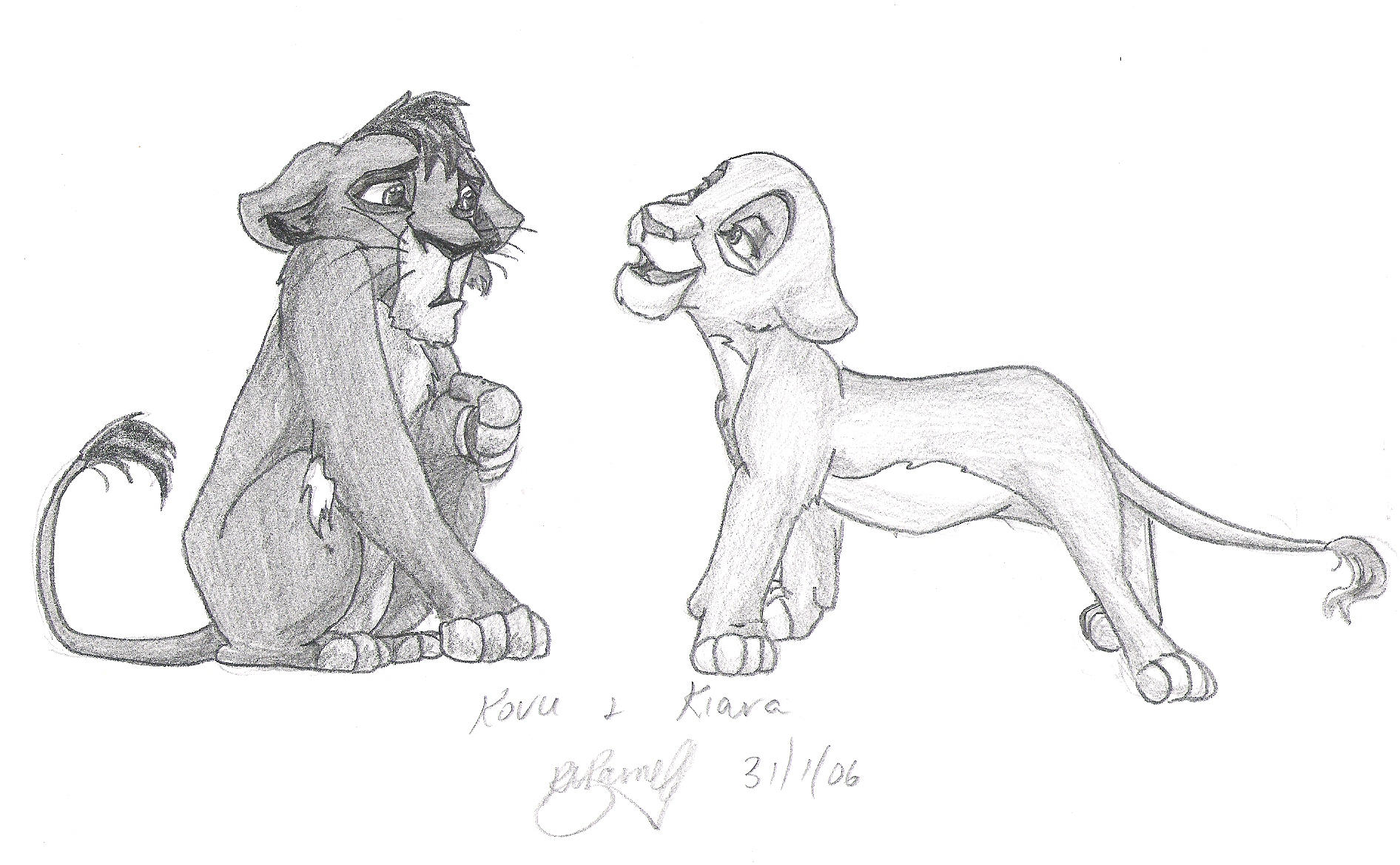 Kovu And Kiara By Bekerah On DeviantArt