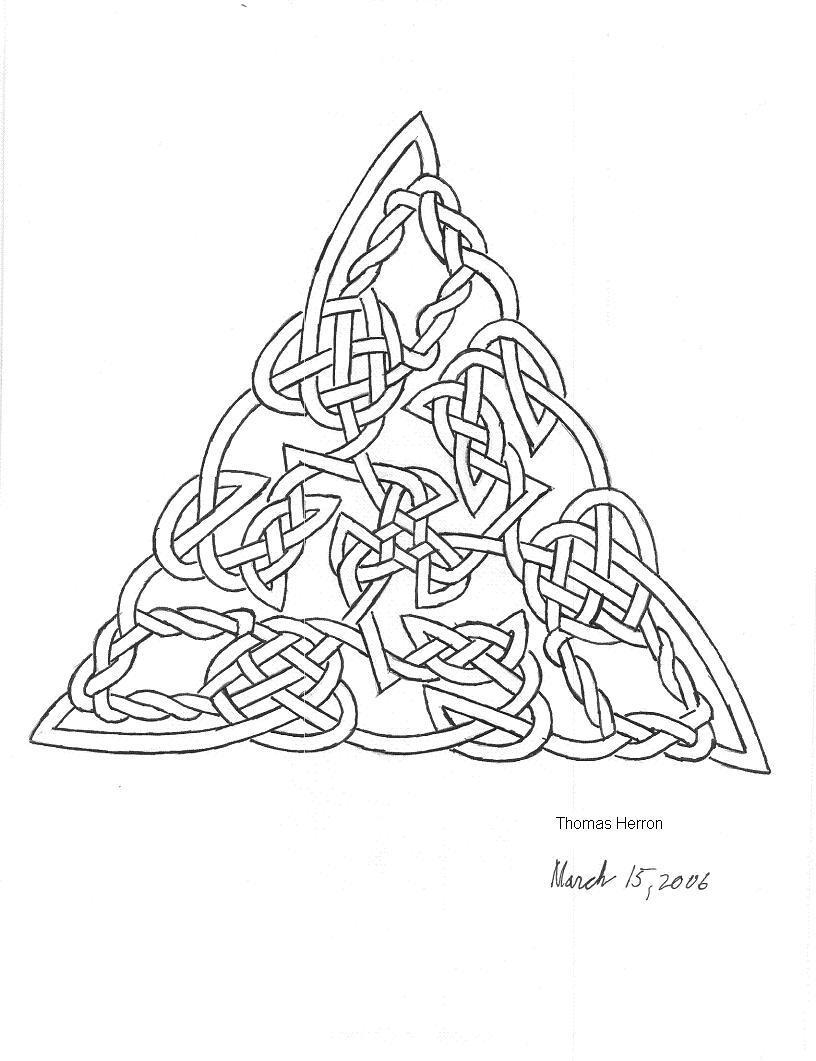 Celtic knot triangle celtic knot triangle 2 by ceramicsmaster