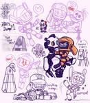 Three Robots Sketch Dump