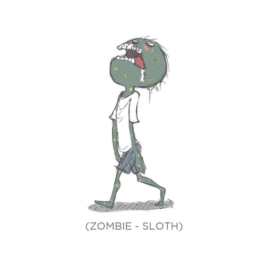 003 - Zombie Sloth by SEEZ85