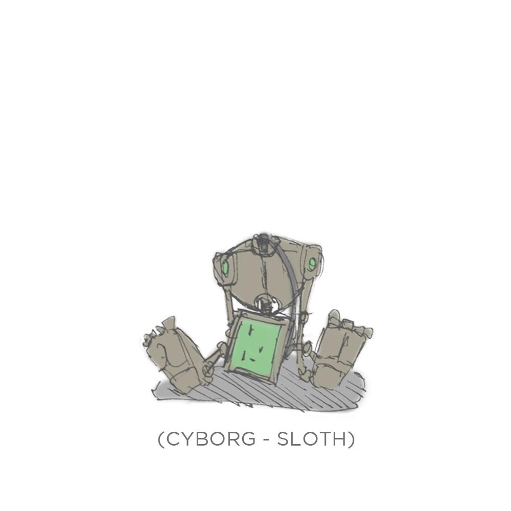 004 - Cyborg Sloth by SEEZ85