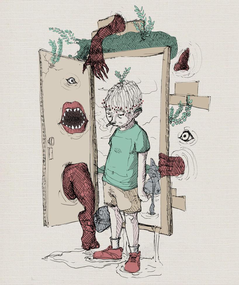 Opening the door by SEEZ85