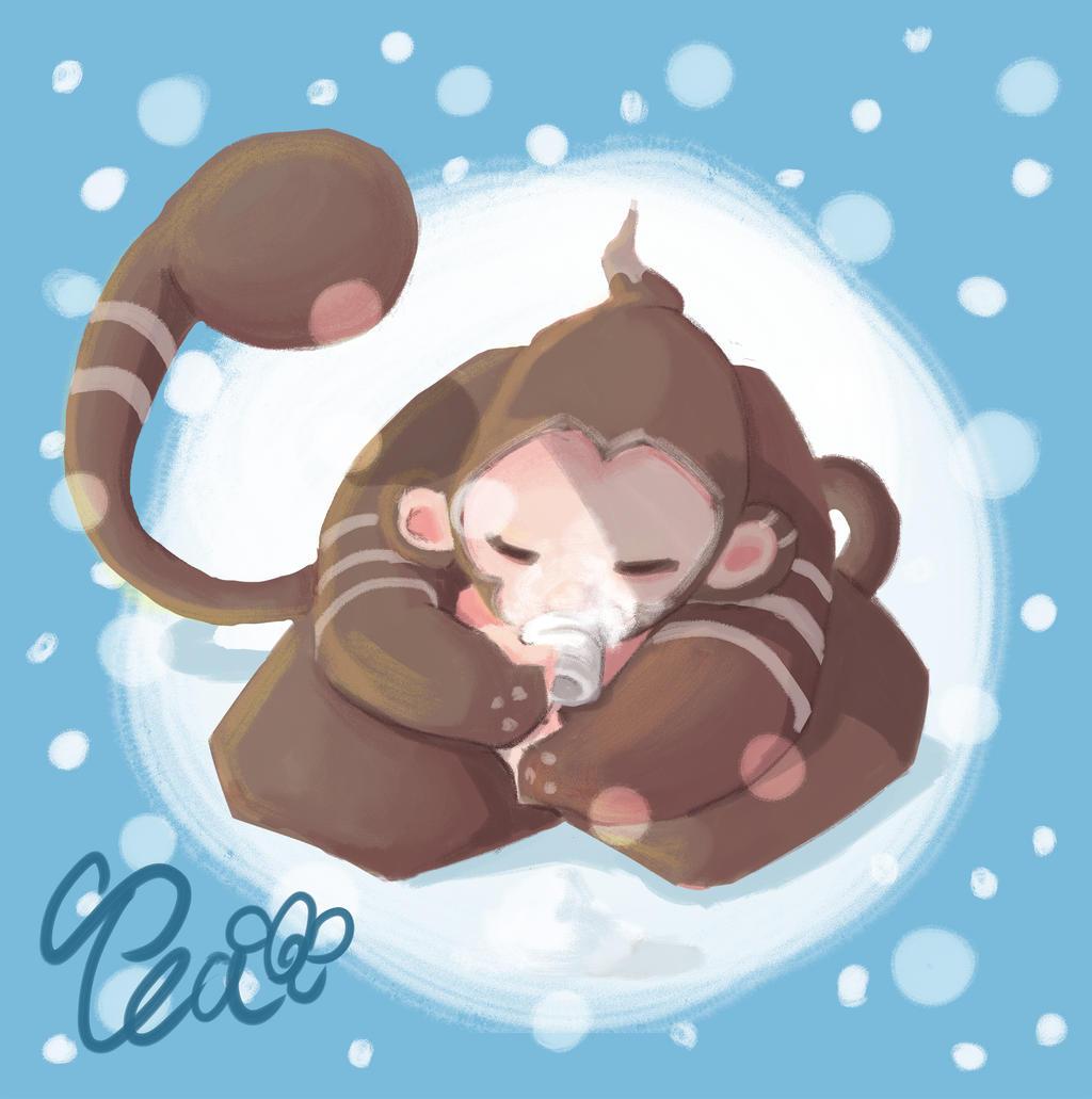 Tea Monkey by SEEZ85