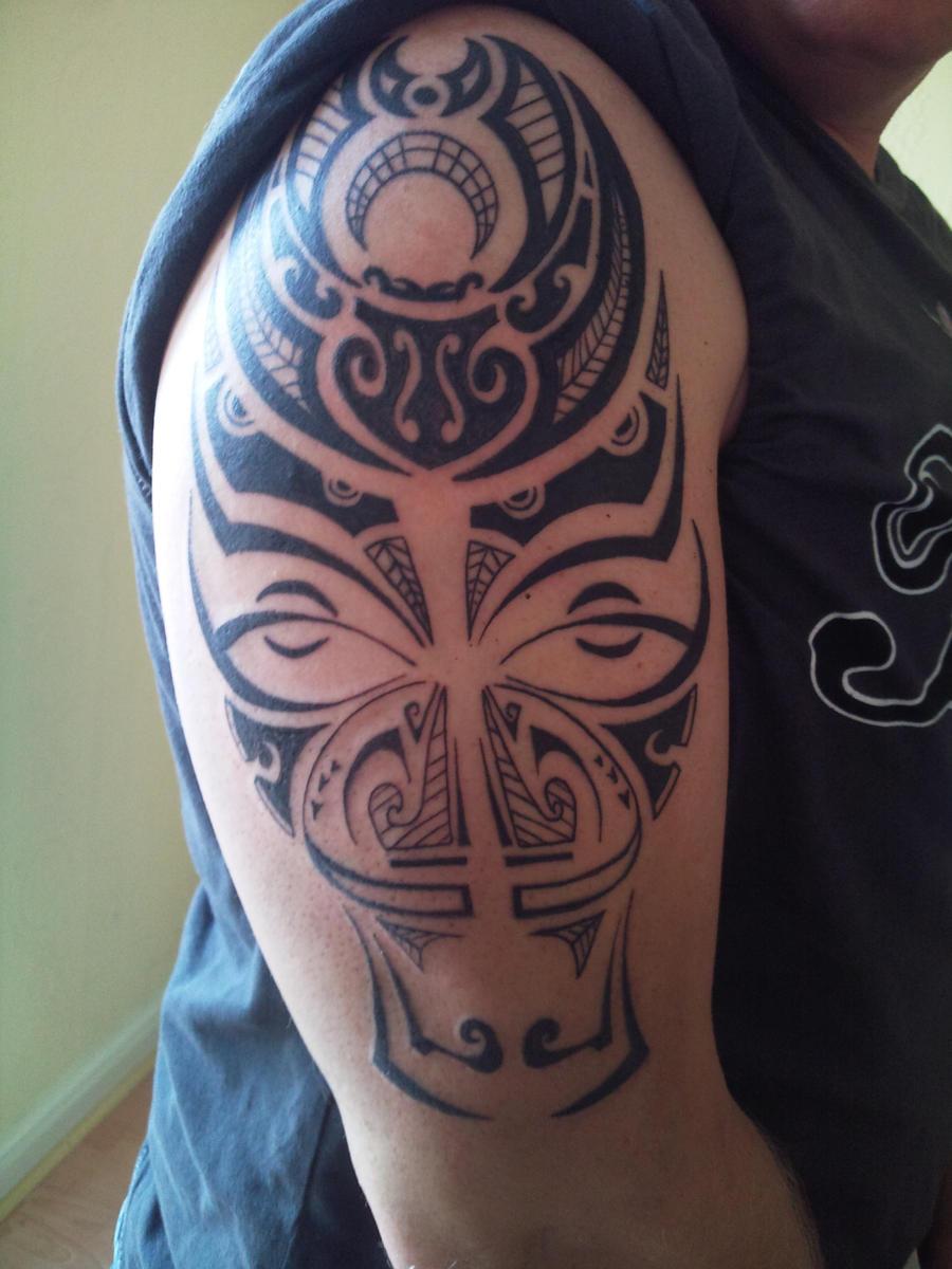 Maori Mask Tattoo By Artznpanda On DeviantArt