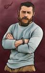 Color Sketch (Bearded Man)