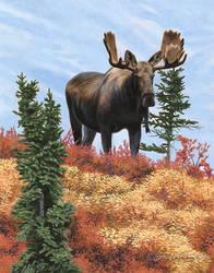 Ridgetop Sentinel - Acrylic Painting